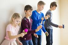 Group Of Kids Playing Kendama ...