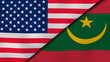 The flags of United States and Mauritania. News, reportage, business background. 3d illustration