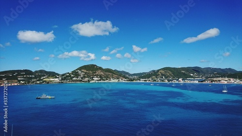 Fototapety, obrazy: Scenic View Of Sea Against Blue Sky