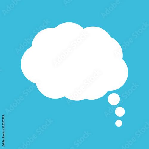 Speech or think bubble, empty communication cloud Poster Mural XXL