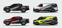 Set Of Vehicle Graphic Kit Vec...