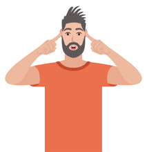 Man Covering Ears With Fingers...