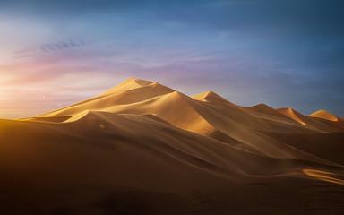 Sunset in the desert - Dune 7, Namibia