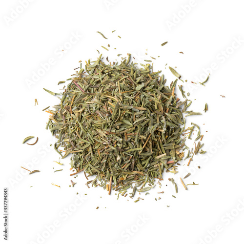 Foto Heap of dried rosemary needles