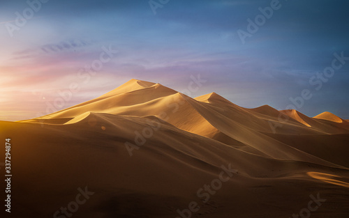 Sunset in the desert - Dune 7, Namibia