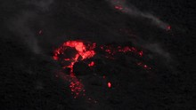 Close Up Of A Chunky Lava Flow...