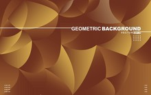 Abstract Colorful Geometric Background. Vector Illustration For Your Design. Geometric Background. A Combination Of Elegant Gold. Vector