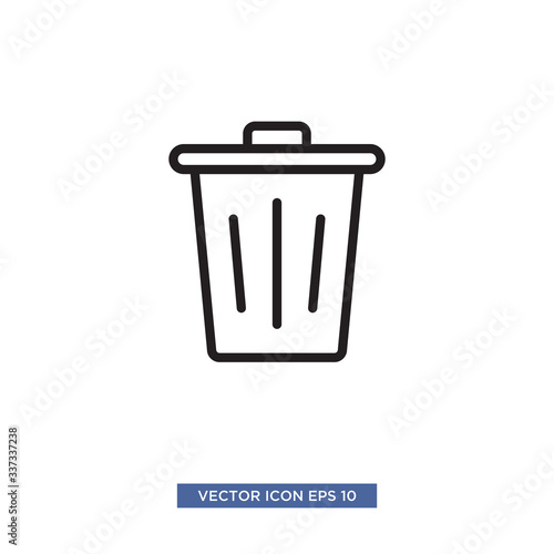 Fototapety, obrazy: trash can icon vector illustration