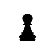 Pawn Chess Piece Black Sign Ic...