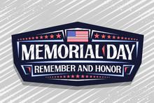 Vector Logo For Memorial Day, ...