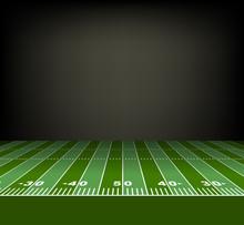 American Football Field. Vector