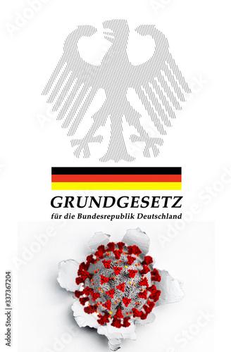 Grundgesetz & Coronavirus Wallpaper Mural