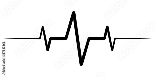 Photo heart rate pulse, icon medicine logo, vector heartbeat heart rate icon, audio so