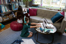 Kids E-learning At Home During...