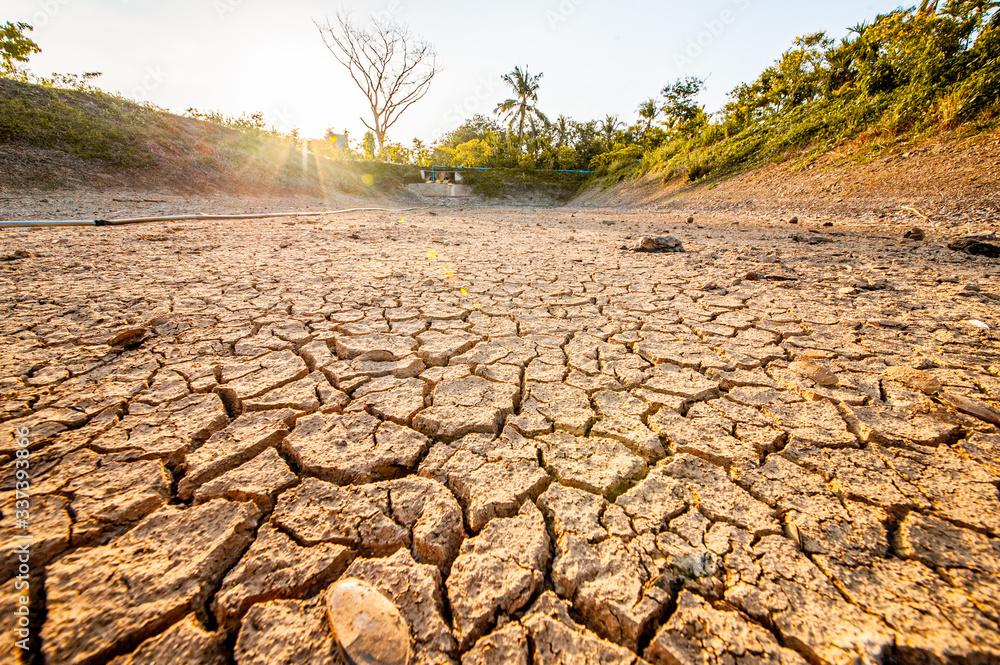 Fototapeta dry cracked earth