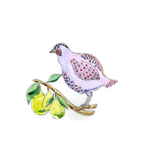 Partridge In Pear Tree For 12 Days Of Christmas Charms