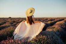 Beautiful Young Woman Walking ...