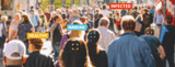 tracking crowd of people in a the streets of london to protect their health and social behavior for Covid-19 Coronavirus. Big data monitoring motion profile concept. - 337410223