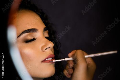 Retrato feminino com Miriã Nogueira Canvas Print