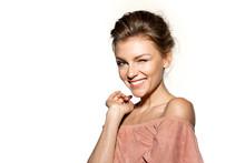 Happy Beautiful Woman Smiling ...