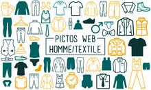 Textile Homme - Picto / Web