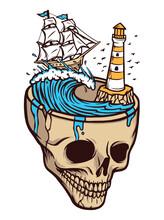 Horror Sea Adventure Illustrat...