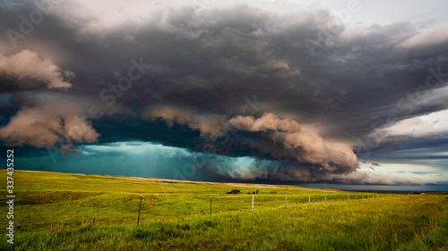 Fotografía Storm clouds from a supercell thunderstorm