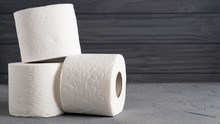 Rolls Of Toilet Paper Isolated...