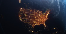 Planet Earth From Space USA, U...