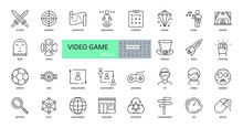 Video Game Icons. Set Of Image...