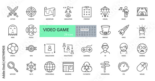 Video game icons Canvas Print
