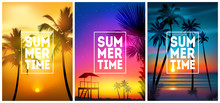Summer Tropical Beach Backgrou...