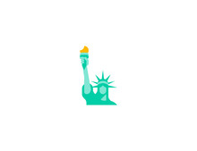Statue Of Liberty Vector Flat Icon. Isolated Liberty Statue Emoji Illustration