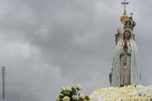 Obraz na płótnie Our Lady of Fatima catholic virgin Mary statue