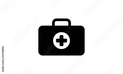 medicine first aid kit vector Canvas Print