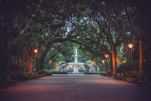 Forsyth Park Fountain In Savan...
