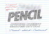 Pencil Drawing Styles Text Effect Mockup - 337471009