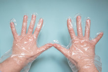 Hands In Disposable Transparen...