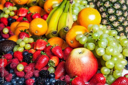 Close-up Of Fruit Variety Fotobehang