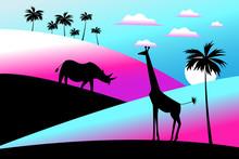 Vector Illustration Of Africa ...