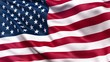 Flag of the United States of America waving in the wind. Seamless 3D loop animation with realistic wind and fabric texture.
