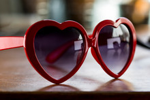 Heart Shaped Sunglasses Close ...