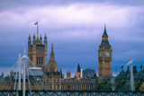 Fototapeta Big Ben - Big Ben Against Cloudy Sky In City