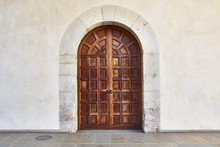 Old Wooden Door And Arch
