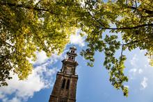 Low Angle View Of Westerkerk Against Sky