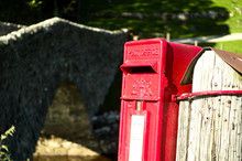 Bright Red Postbox In The Coun...