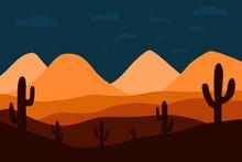 Vector Illustration Of Night A...