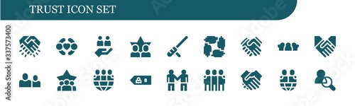 Modern Simple Set of trust Vector filled Icons