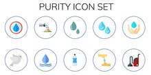 Modern Simple Set Of Purity Ve...