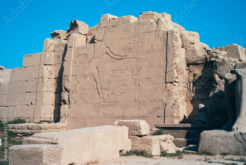 Photo Relief of Thutmose III Killing Canaanite Enemies at the Battle of Megiddo in Kar